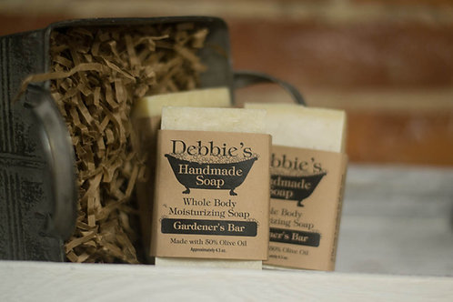 Gardener's Bar, Handmade Soap, Handmade Shaving bar