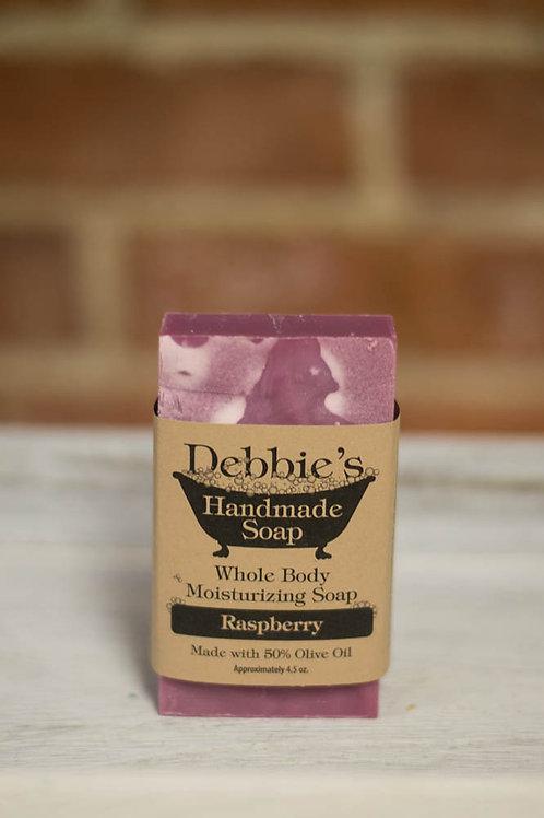 Raspberry, Handmade Soap, 50% Olive Oil