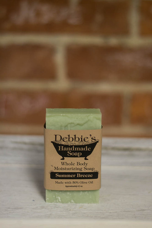 Summer Breezes, Handmade Soap, 50% Olive Oil