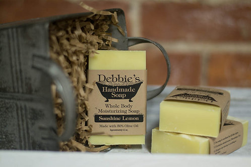 Sunshine Lemon, Handmade Soap, 50% Olive Oil