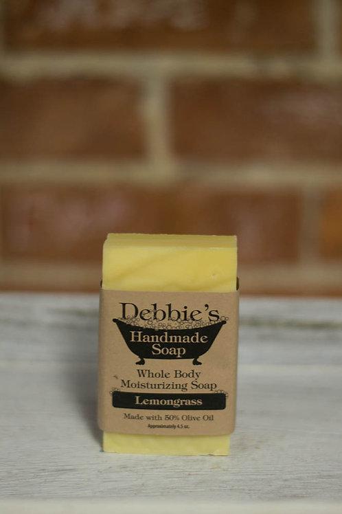 Lemongrass, Handmade Soap, 50% Olive Oil