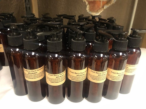 Fresh Berry Hand Sanitizer Gel 4 oz. pump **top might be pump Or disc top**