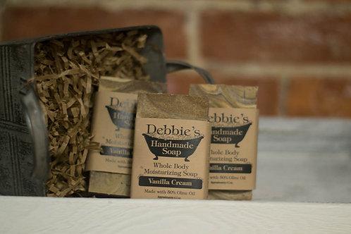 Vanilla Cream, Handmade Soap, 50% Olive Oil