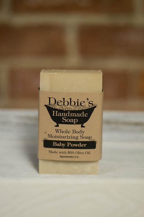 Baby Powder, Handmade Soap, 50% Olive Oil