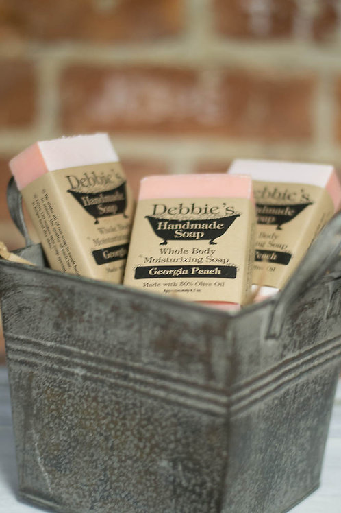 Georgia Peach, Handmade Soap, 50% Olive Oil
