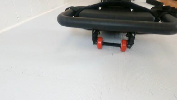 Wheels under platform