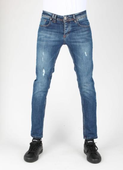 Jeans bleu avec détails