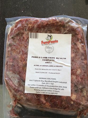 Pork and lamb tripe complete 1kg
