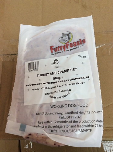 Turkey and cranberry 500g