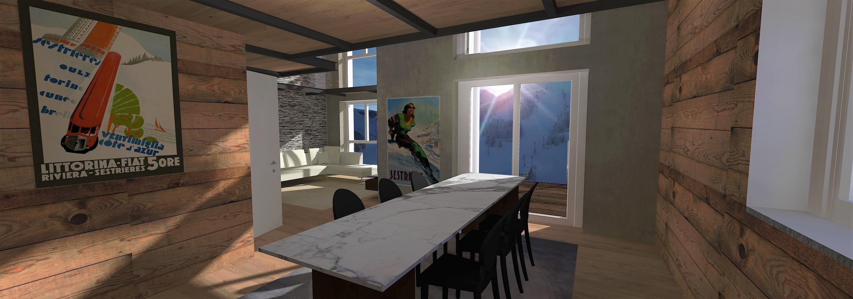 Tipologia alloggio D4 - Soggiorno cucina - 1