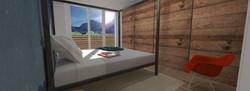 Tipologia C - Camera da letto matrimoniale 2 - riv legno balcone
