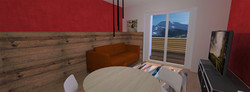 Tipologia D - Soggiorno - 3 - Var 1 - balcone legno