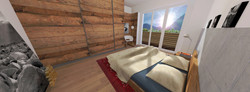 B1 Camera da letto 2 - balcone legno
