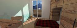 Tipologia C - Camera da letto singola 1 - riv legno balcone