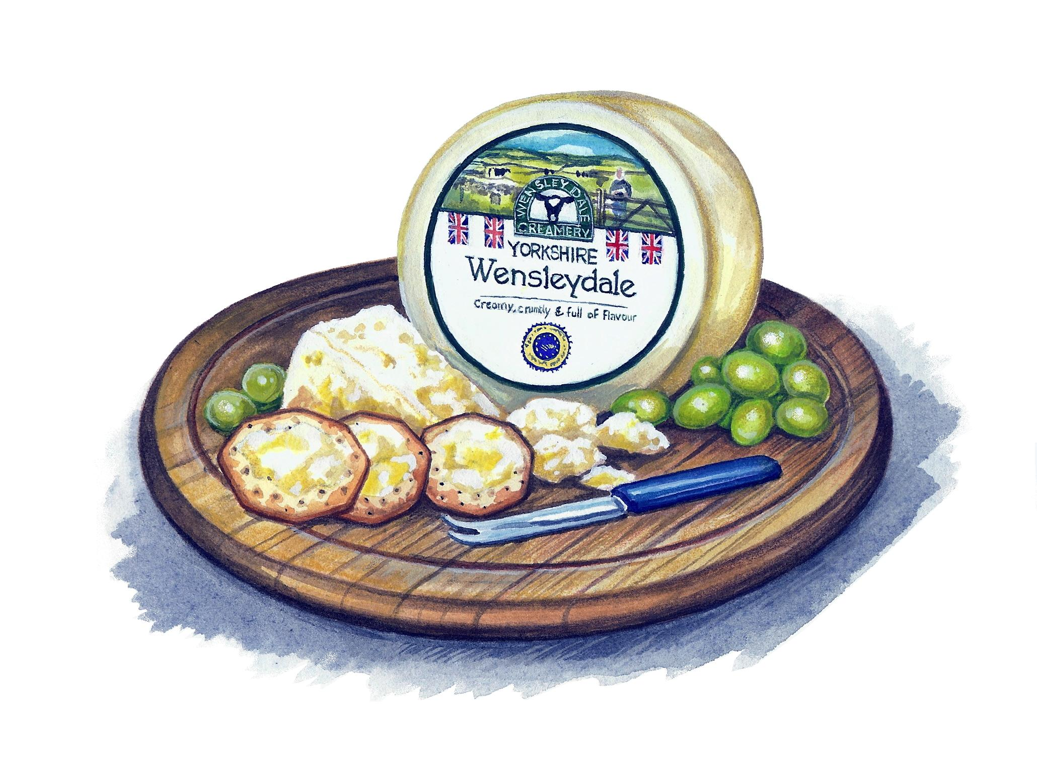 Wensleydale Cheese Artwork