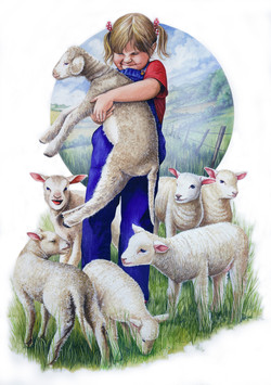 Little+girl+and+lamb