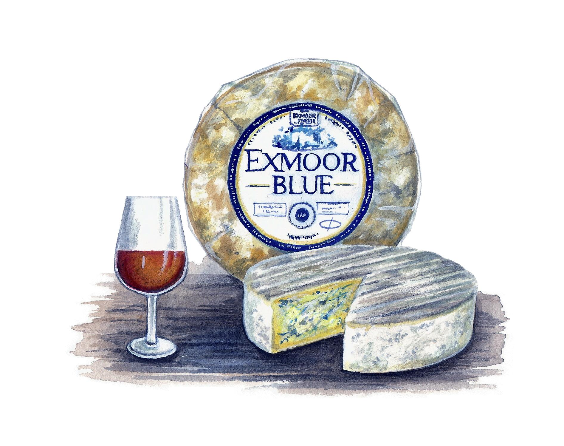 Exmoor Blue Cheese Artwork