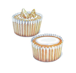Butterfly and Fairy Cakes Artwork 1