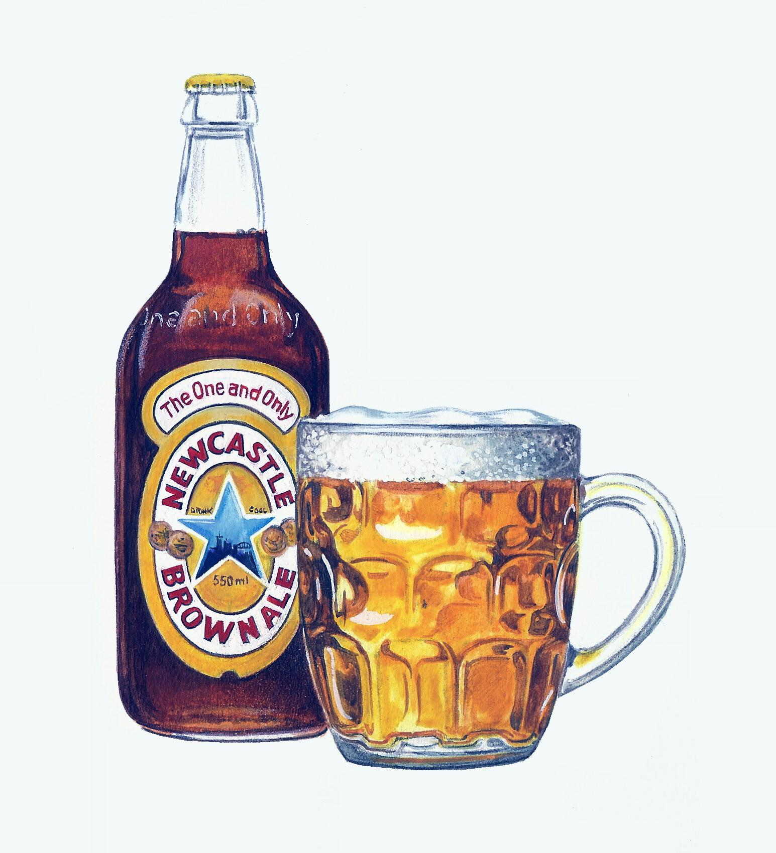Newcastle Brown Ale Artwork