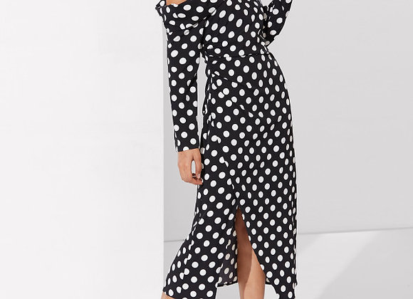 Asymmetric Polka Dot Party Dress
