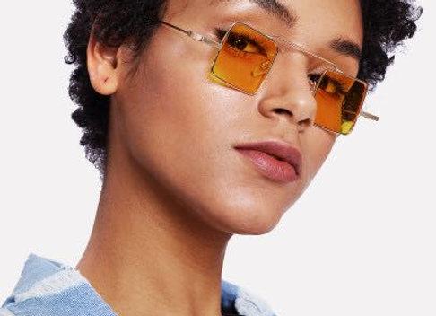 Square Yellow Sunglasses