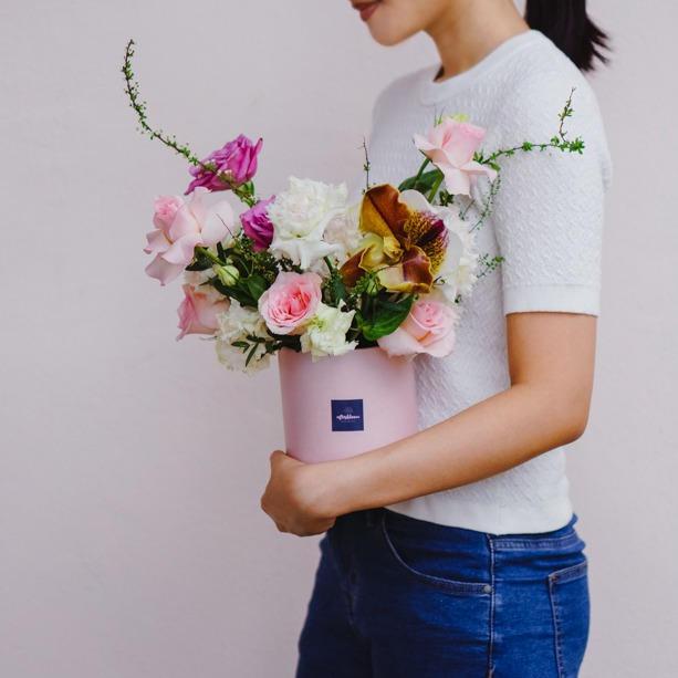 Flower Hatbox (Purple & Pink)