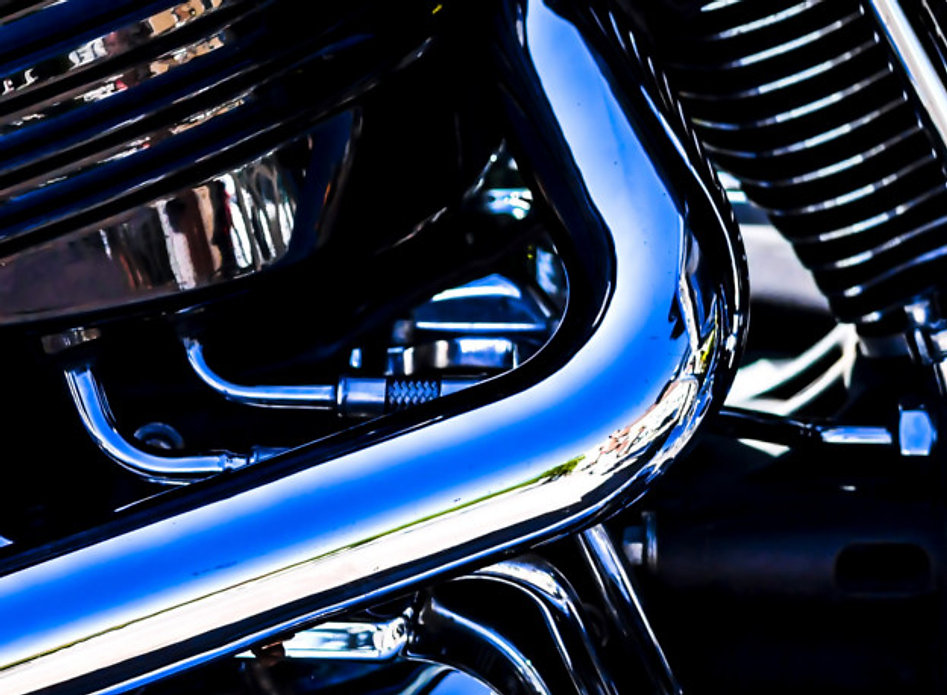 Bike with chrome plated parts