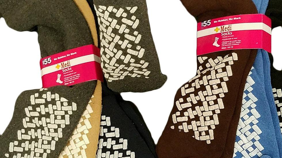 12 Pack Of Diabetic Non Skid Slipper Socks
