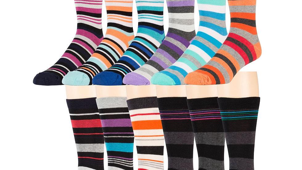 Asst. stripes striped dress sock