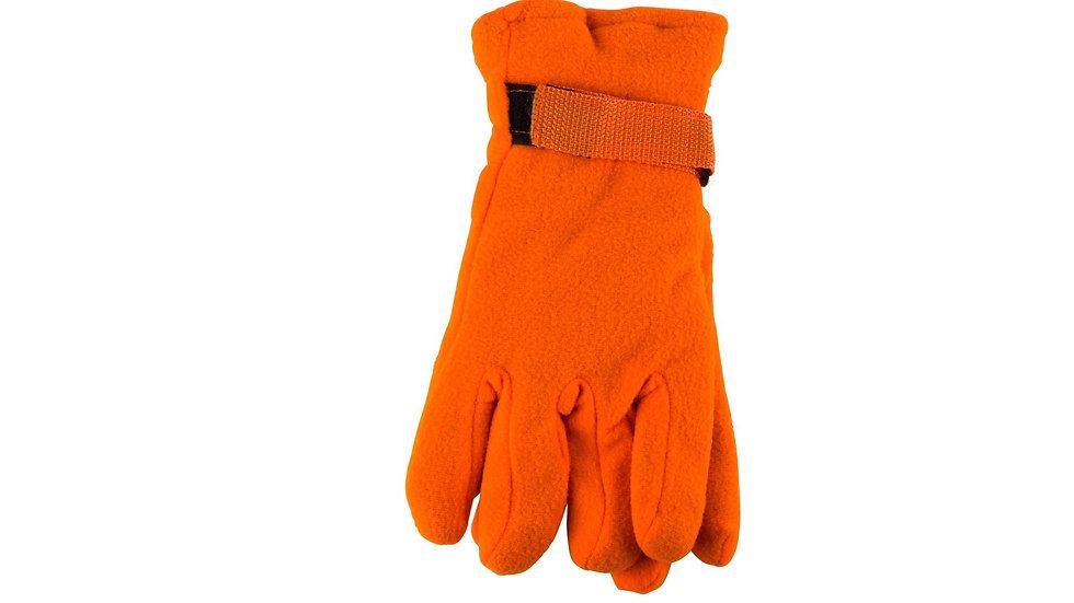 fleece gloves Orange One size fits all
