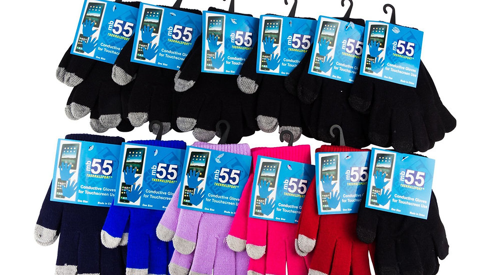 Assorted Color one size fits all magic touchscreen gloves