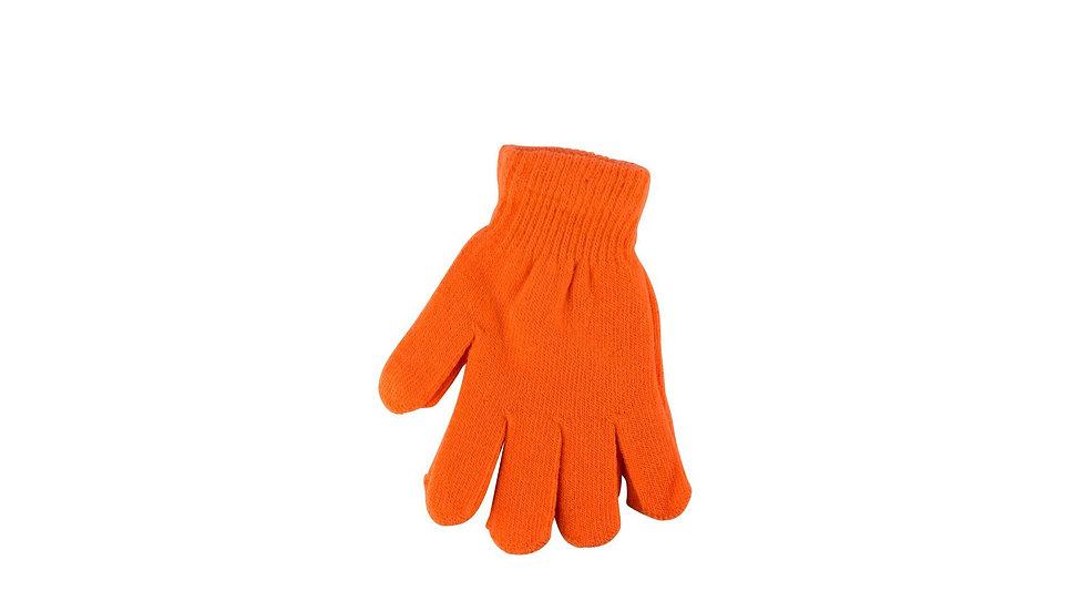 Orange one size fits all magic gloves