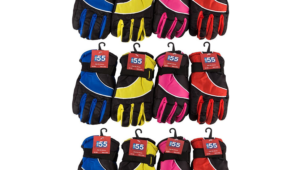 Assorted Colors Kids/One size fits all ski gloves