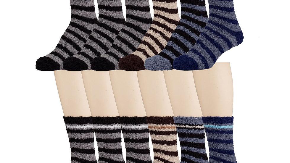 Asst. stripes mens striped soft socks