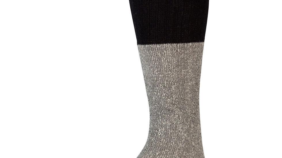 Gray W/Black Tops Part Cotton Thermal Diabetic Socks