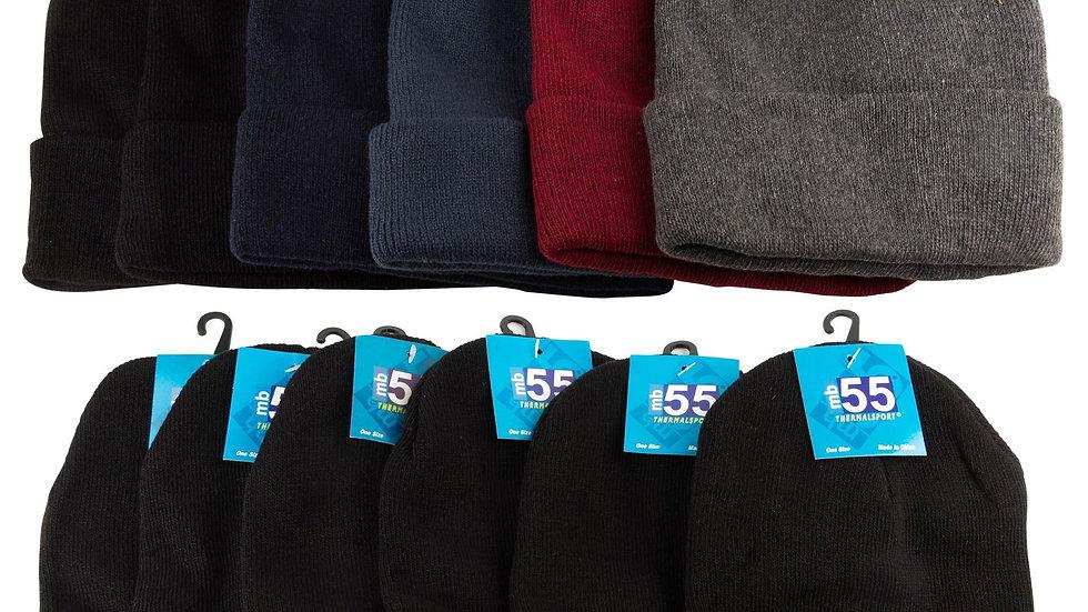 Dark Colors Knit Ski Caps