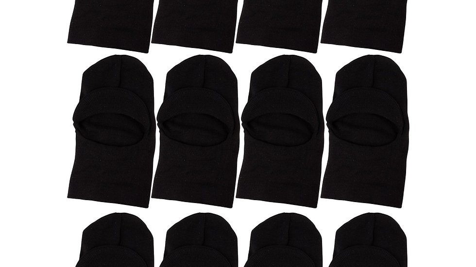 Black one size fits all window hat