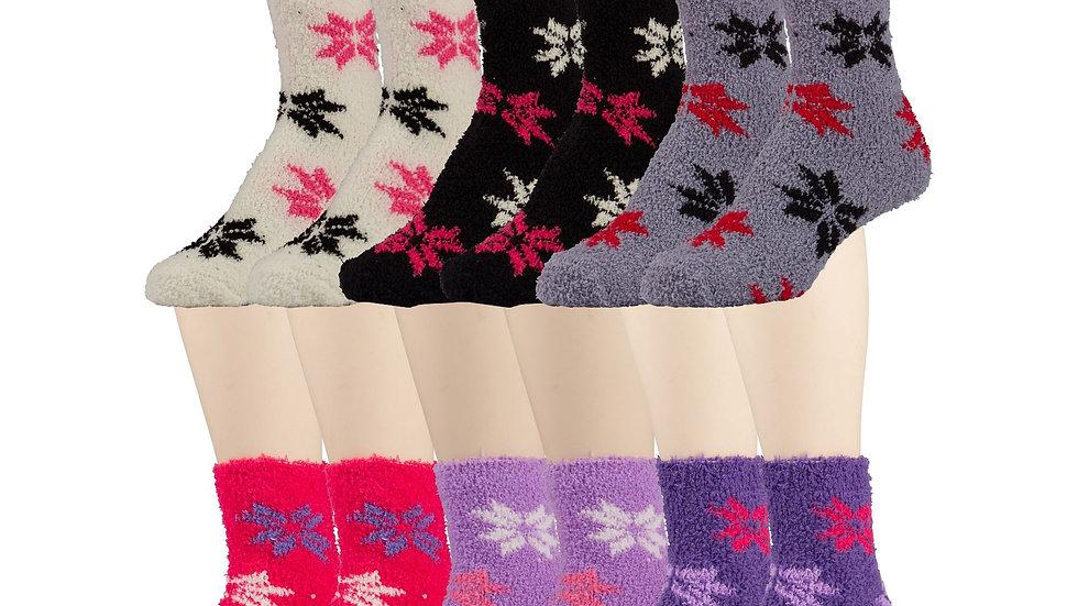 Assorted Colors  snowflake design soft socks