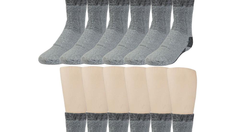 Gray Merino Wool Thermal Socks