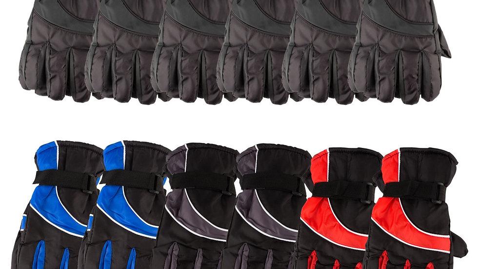 12 Pack Of Ski Gloves Colors