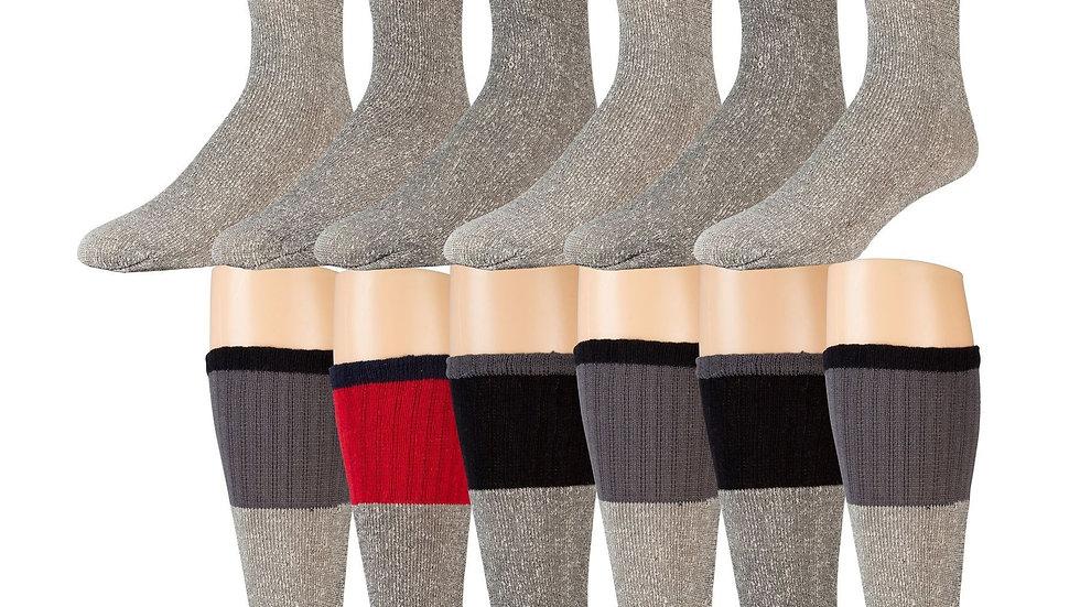 Cotton blend thermal tube socks