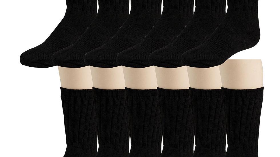 Black Merino Wool Thermal Socks