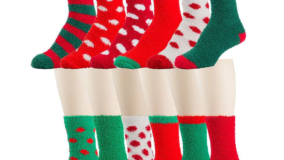 Assorted prints holiday socks
