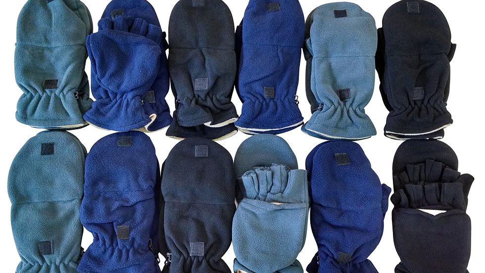 Asst. dark colors one size fits all fleece fingerless gloves