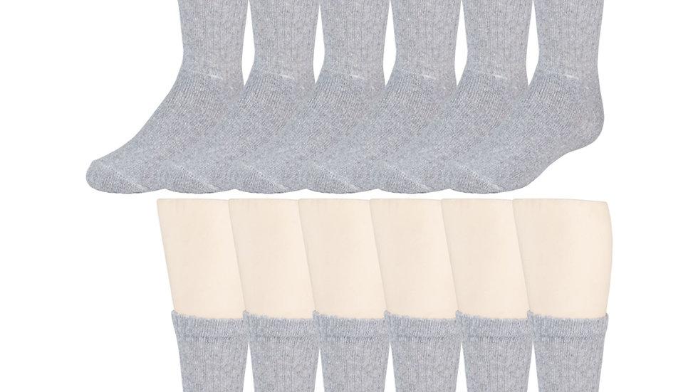 12 Pairs of Gray Crew Socks, Athletic, Sports Socks