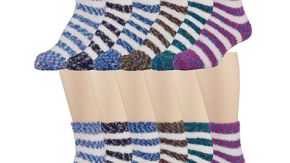 Asst. wt/-stripe soft socks