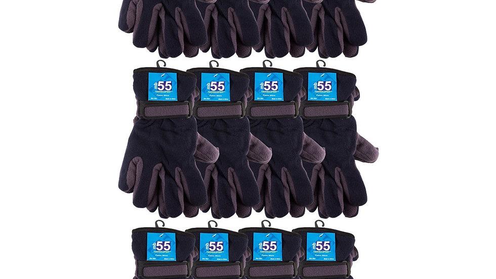 Asst. dark colors one size fits all fleece gloves