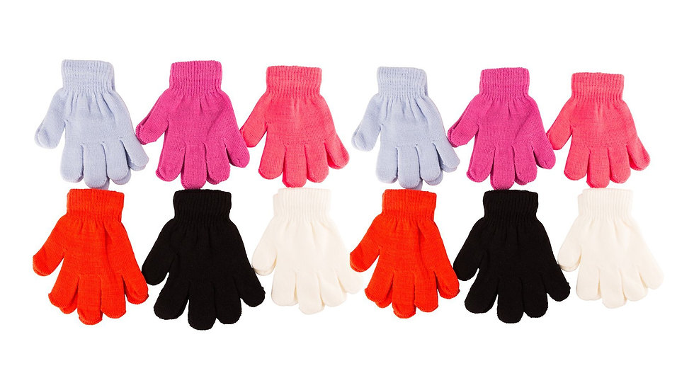 Assorted Colors Kids/One size fits all magic gloves