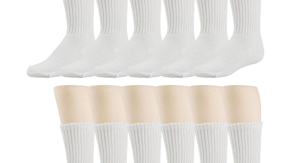 12 Pack Of White Crew Socks