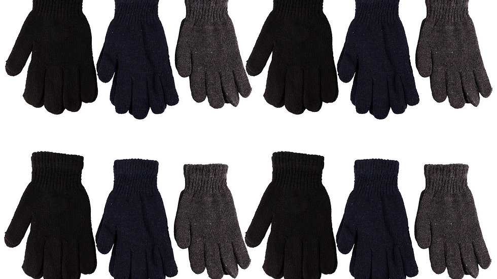12 Pack Of Acrylic Knit Gloves